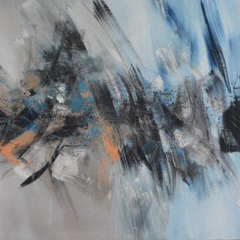 GÉRARD BESSETL'insaisissable partition 2006 – acrylique sur toile – 200x135cm – Prix de la municipalité Salon de Champagne sur Oise 2012