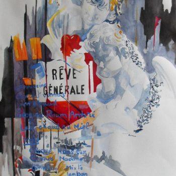 PATRICIA RABEUX Rêve général 55 x 65